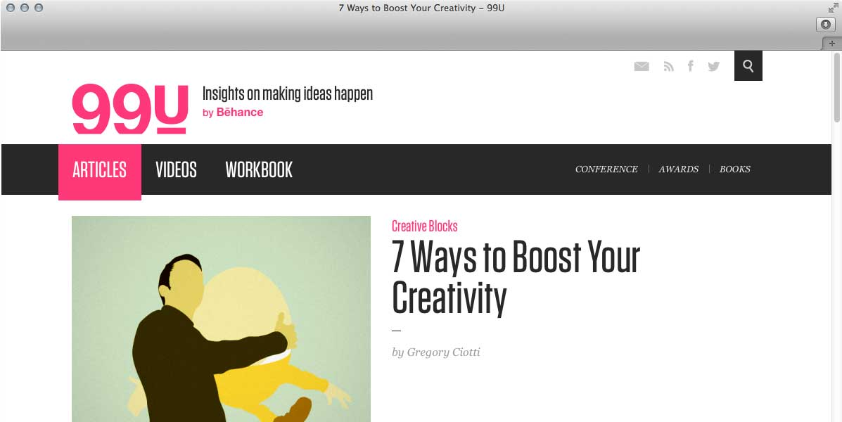7 Ways to Boost Your Creativity by Gregory Ciotti